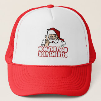 Ugly Christmas Swear Santa Claus Trucker Hat