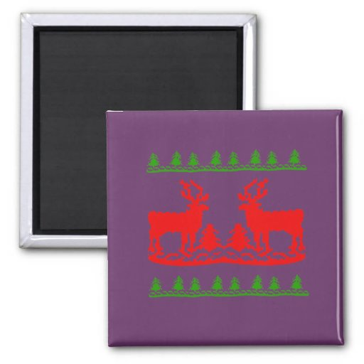 Ugly Christmas Sweater 2 Inch Square Magnet