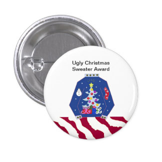Ugly Christmas Sweater Award Pinback Button