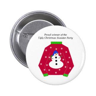 Ugly Christmas Sweater Award Pin