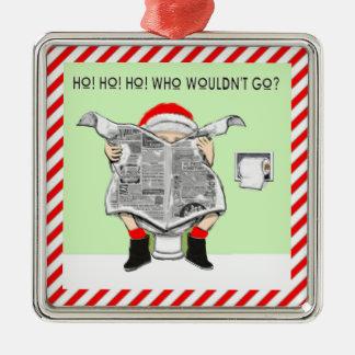 Ugly Christmas Sweater Awards Square Metal Christmas Ornament