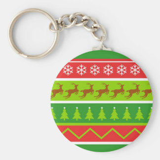 Ugly Christmas Sweater Basic Round Button Keychain