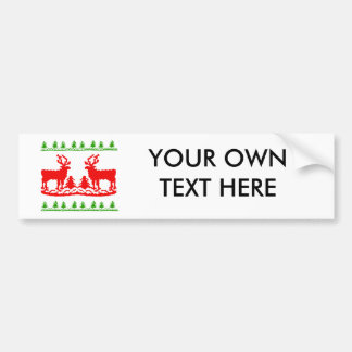 Ugly Christmas Sweater Bumper Sticker