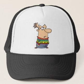ugly christmas sweater cartoon trucker hat