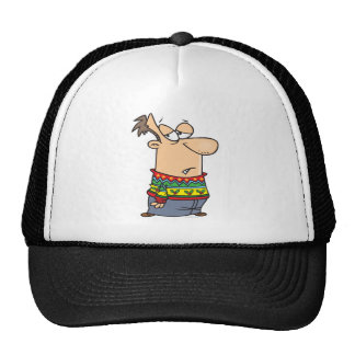 ugly christmas sweater cartoon trucker hat
