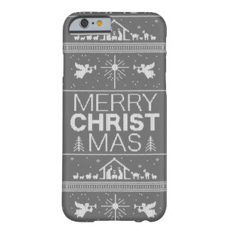 Ugly Christmas Sweater Christ Religious Christian Barely There iPhone 6 Case