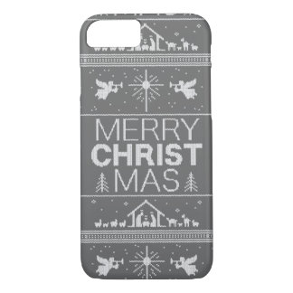 Ugly Christmas Sweater Christ Religious Christian iPhone 7 Case