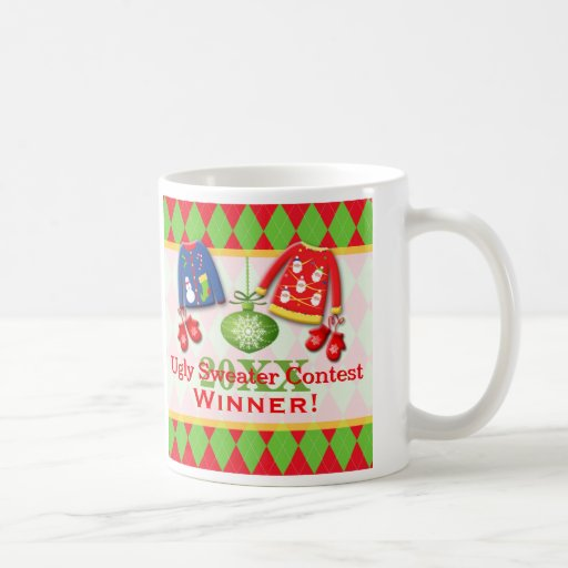 Ugly Christmas Sweater Contest Winner Mug