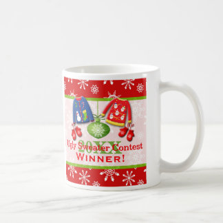 Ugly Christmas Sweater Contest Winner Mug 3