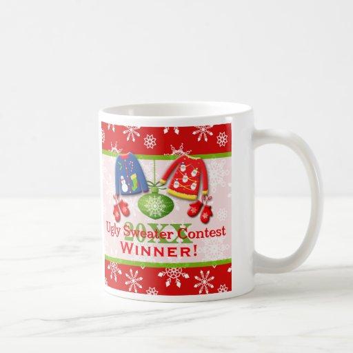 Ugly Christmas Sweater Contest Winner Mug 3