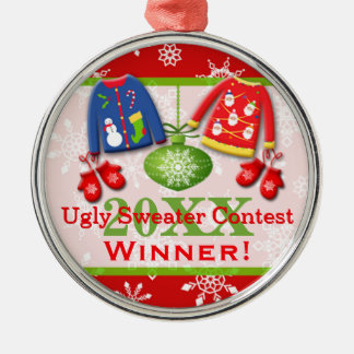 Ugly Christmas Sweater Contest Winner Ornament 5