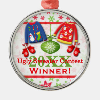 Ugly Christmas Sweater Contest Winner Ornament 7