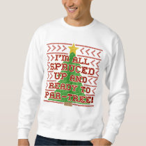 Ugly Christmas Sweater Cross Stitch Spruced Up Pun