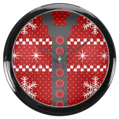 Ugly Christmas Sweater Clocks