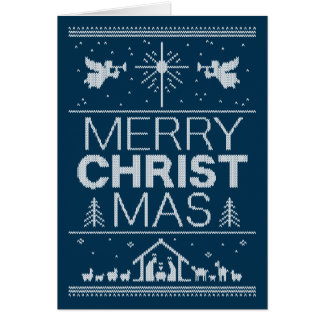 Ugly Christmas Sweater Design Religious Christian Card