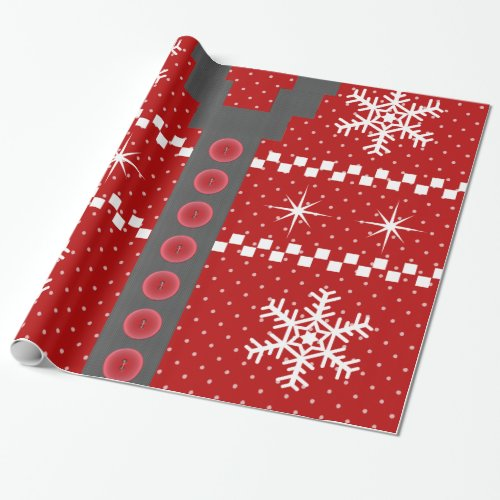 Ugly Christmas Sweater Design Wrapping Paper