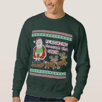 Ugly Christmas Sweater | Funny Santa Flashing Snow