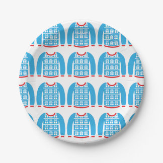 Ugly Christmas Sweater Gifts Presents Party Paper Plate