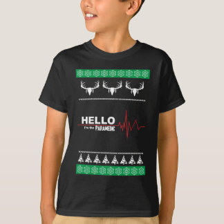 Ugly Christmas Sweater Great Gift Paramedic T-Shirt