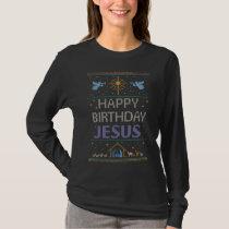 Ugly Christmas Sweater Happy Birthday Jesus
