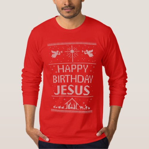Ugly Christmas Sweater Happy Birthday Jesus After Christmas Sales 2896