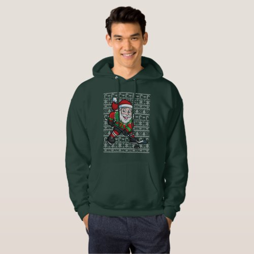 Ugly Christmas Sweater Hockey Santa Claus After Christmas Sales 2898