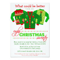 Ugly Christmas Sweater Holiday Party Card