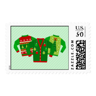 Ugly Christmas Sweater Holiday Party Postage