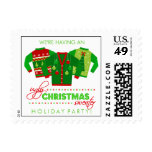 Ugly Christmas Sweater Holiday Party Postage Stamp