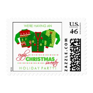 Ugly Christmas Sweater Holiday Party Stamps