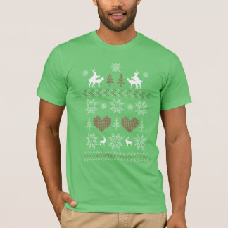 "Ugly Christmas Sweater Humpin"" Deer T shirt"