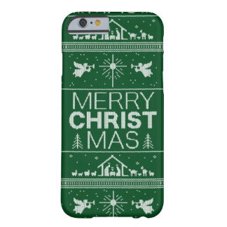 Ugly Christmas Sweater Jesus Religious Christian Barely There iPhone 6 Case