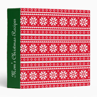 UGLY CHRISTMAS SWEATER kitchen recipe binder book