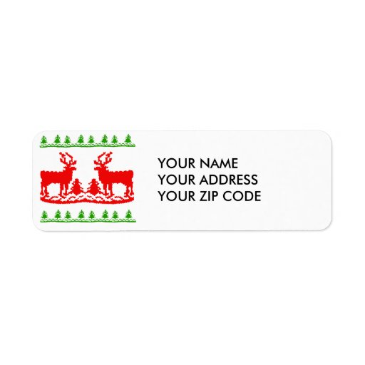 Ugly Christmas Sweater Custom Return Address Label