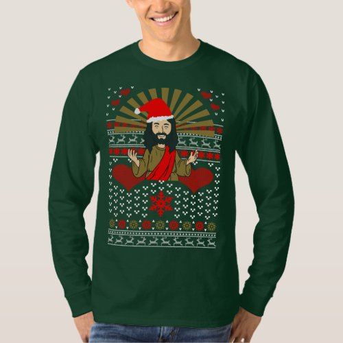 Ugly Christmas Sweater Love Jesus Xmas After Christmas Sales 2917