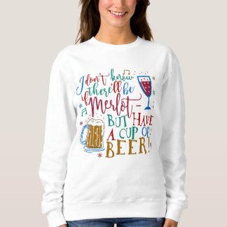 Ugly Christmas Sweater Merlot Wine Beer Typography