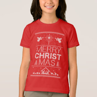 Ugly Christmas Sweater Merry Christ Mas Christian