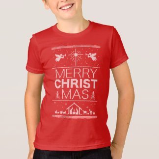 Ugly Christmas Sweater Merry Christ Mas Religious