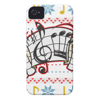 Ugly Christmas Sweater Music Notes iPhone 4 Case
