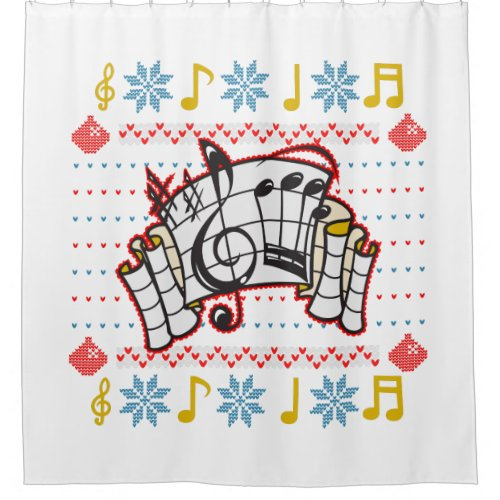 Ugly Christmas Sweater Music Notes