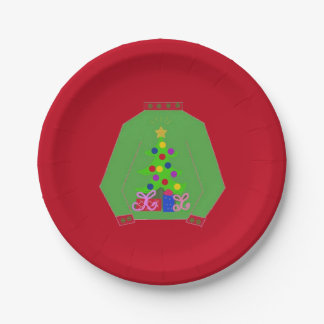 Ugly Christmas Sweater Paper Plate