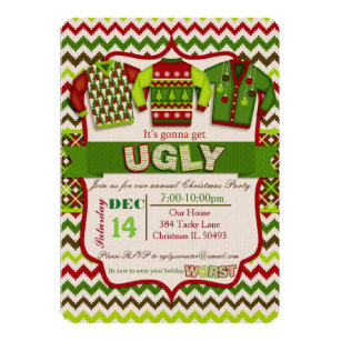 Ugly Sweater Christmas Invitations Zazzle