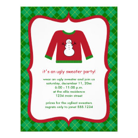 Ugly Sweater Party Invitations Christmas Cards by Design