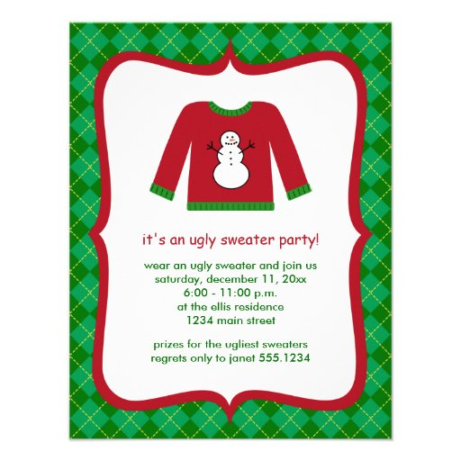 Ugly Sweater Invite Wording as amazing invitations layout