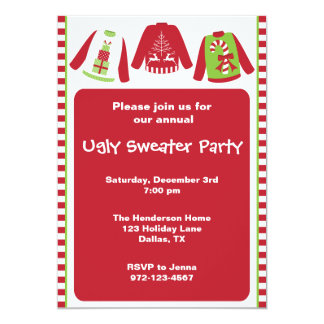 Ugly Christmas Sweater Party Invitations Announcements