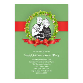 ugly christmas sweater party invitations  announcements  zazzle, Party invitations