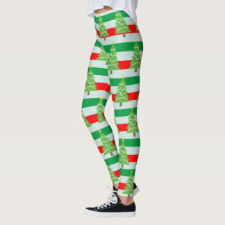 Ugly Christmas Sweater Leggings & Tights | Zazzle