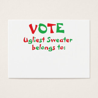 """""""Ugly Christmas Sweater Party"""" Voting Cards"""