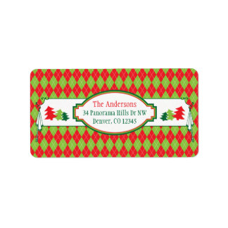 Ugly Christmas Sweater Party Xmas Return Address Labels