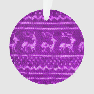 Ugly Christmas Sweater pattern Ornament